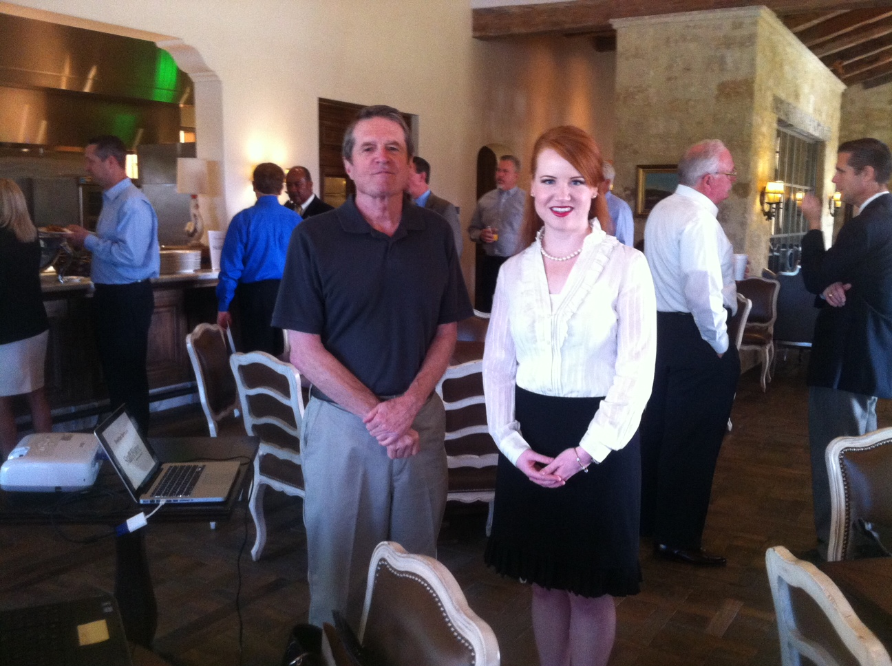 AMAC Delegate Wallace Everitt, TX-10, and Holli Strong, Eastern Field