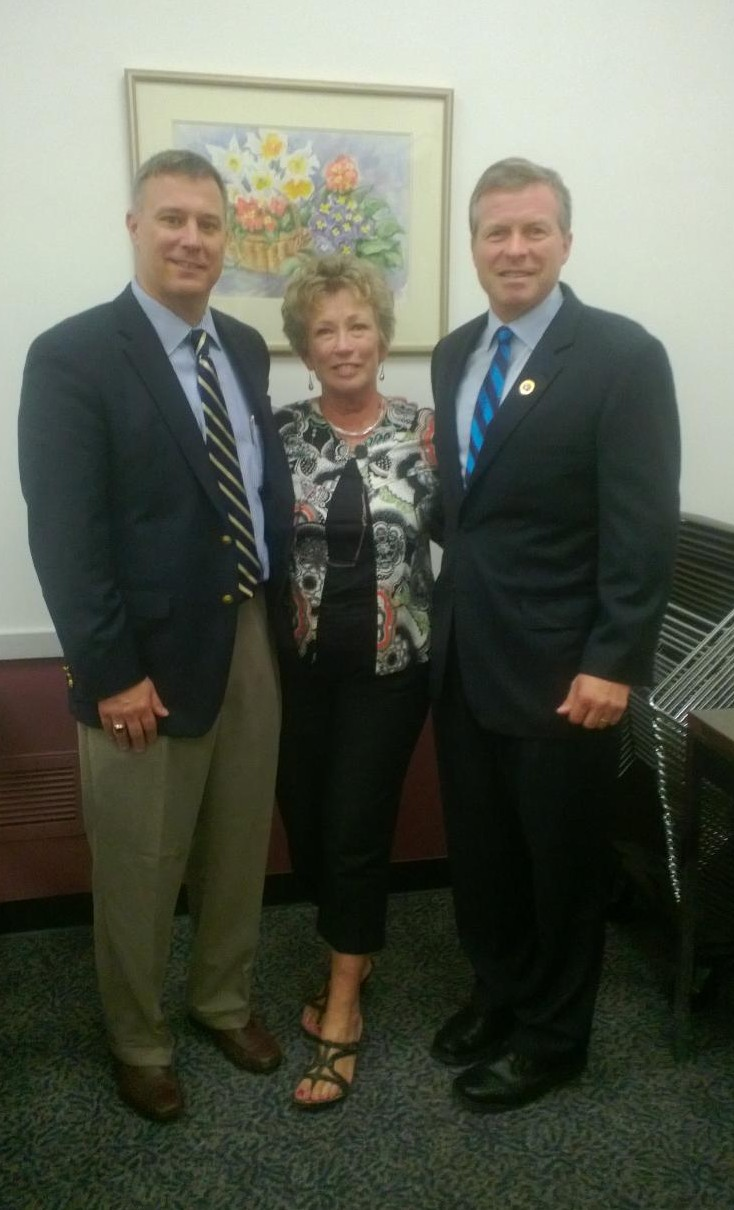 AMAC Delegate Prudie Potter with Congressman Charlie Dent (r) and AMAC's Andy Mangione (l)