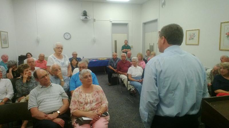AMAC members packed the house at a Town Hall meeting with Rep. Charlie Dent
