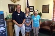 Delegates Steve Capella (L) and Rita Fullerton (R) meet with Speaker Boehner's District Staffer, Erin Clemons.