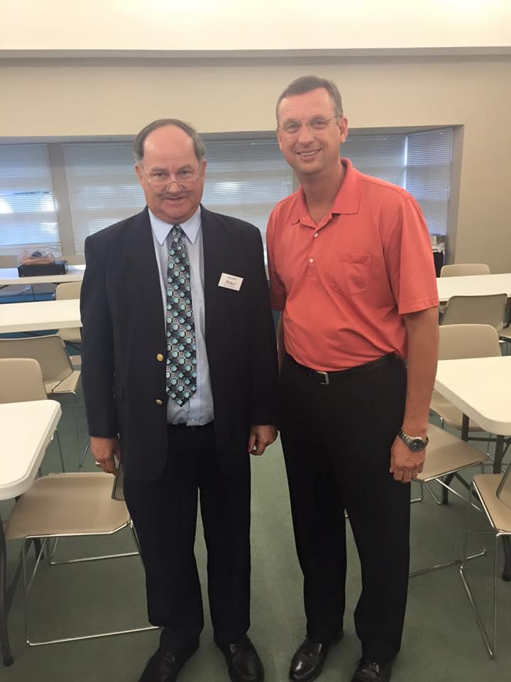 AMAC Delegate Dennis Israel (left) poses with Rep. Doug Collins (right) following the first AMAC town hall meeting in Georgia's 9th congressional district.