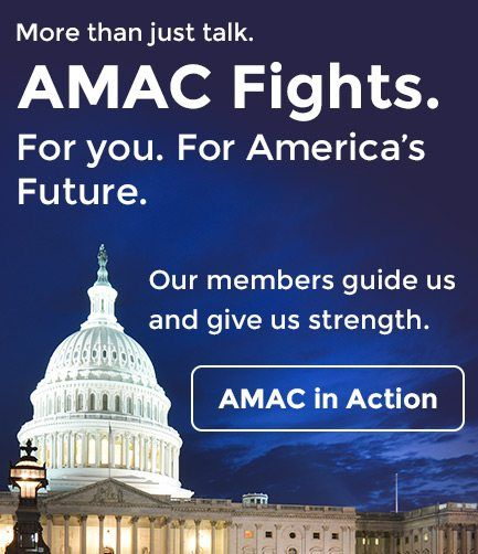 More than just talk. AMAC Fights. For you. For America's Future. Our members guide and give us strength. AMAC in Action.