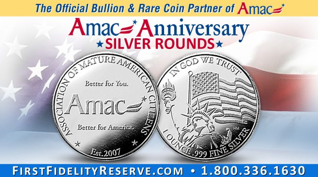 AMAC's 10th Anniversary commemorative Silver Round for early release
