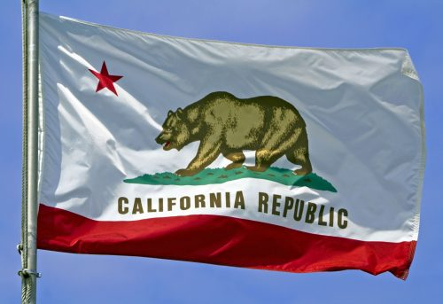 California flag liberal state democrat free speech
