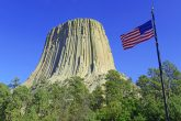 Devils tower rock natural
