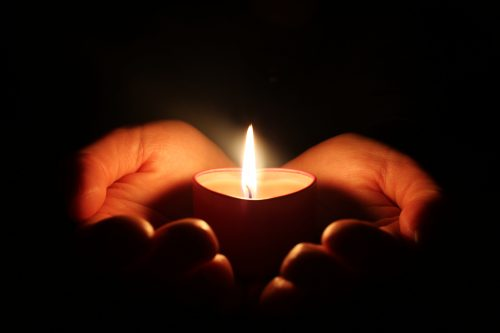 darkness candle light