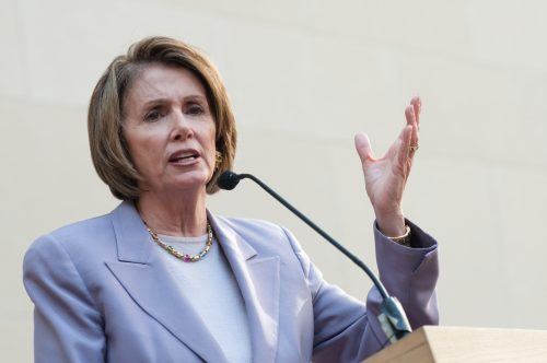 Pelosi speaker Nancy left Trump