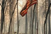 American Flag Survives California Wildfire
