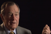 President George H.W. Bush World War II service interview