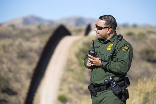 illegal border crossings wall