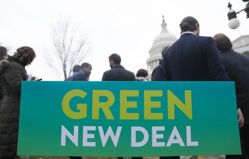 green new deal breaking left apart