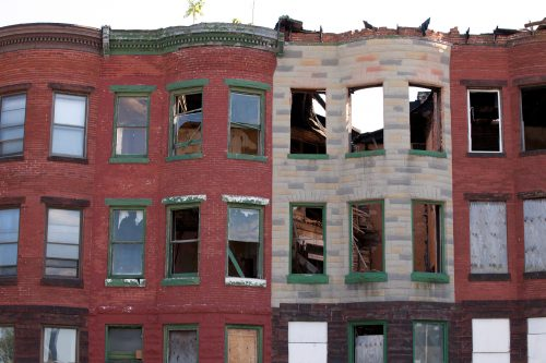 Baltimore death drugs empty homes